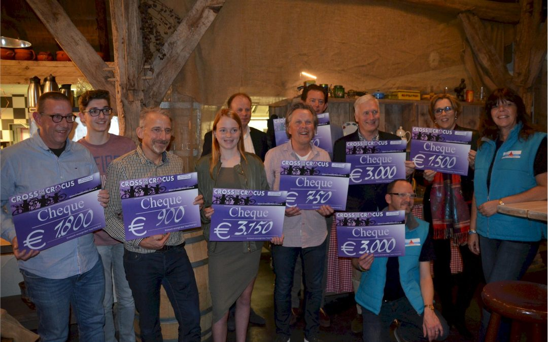 9 goede doelen ontvangen samen 15.000 euro na 8e editie van de Cross For The Crocus